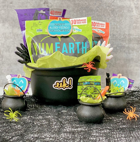 Boo Basket filled with YumEarth Halloween candy