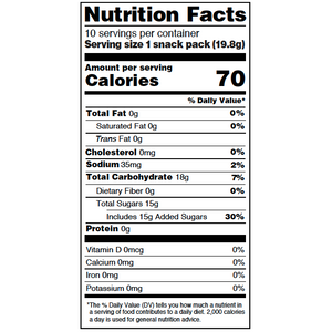 Yumearth-organic sour beans-nutrition fact label
