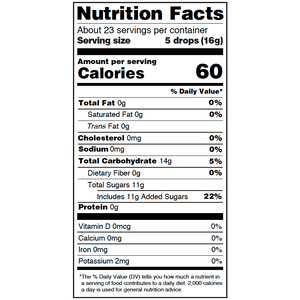 Yumearth-organic favorite fruit hard candy-nutrition fact label