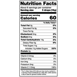Yumearth-organic vitamin c antioxidant fruit drops-nutrition fact label