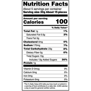 Yumearth-organic gluten free black licorice-nutrition fact label