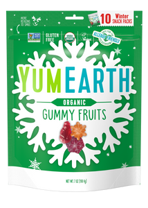 organic holiday gummy fruits
