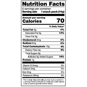 Yumearth-organic roll'n stones-nutrition fact label