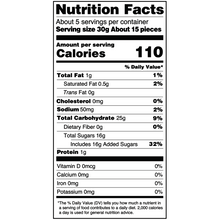 Load image into Gallery viewer, Yumearth-organic gluten free strawberry licorice-nutrition fact label