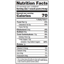 Load image into Gallery viewer, Yumearth-assorted flavor gummy bears-nutrition fact label