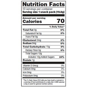 Yumearth-assorted flavor gummy bears-nutrition fact label