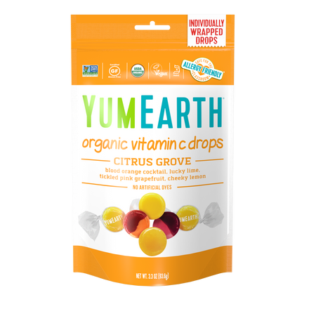YumEarth-organic citrus grove vitamin c drops-front of package