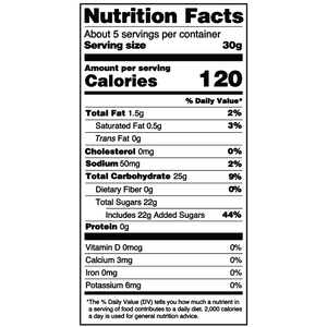 Yumearth-organic giggles-nutrition fact label