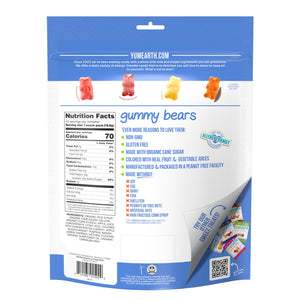 YumEarth-assorted flavor gummy bears-back of package