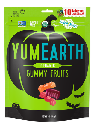 YumEarth-organic halloween gummy fruits-front of package