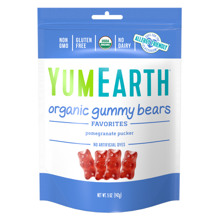 YumEarth-organic pomegranate gummy bears-front of package