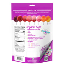 Load image into Gallery viewer, YumEarth-organic assorted flavors vitamin c lollipops-back of package
