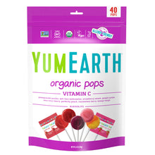 Load image into Gallery viewer, YumEarth-organic assorted flavors vitamin c lollipops-front of package
