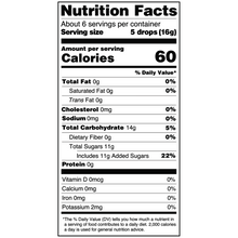 Load image into Gallery viewer, Yumearth-organic pomegranate hard candy-nutrition fact label