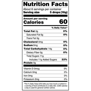 Yumearth-organic pomegranate hard candy-nutrition fact label