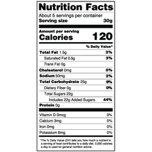 Load image into Gallery viewer, Yumearth-organic sour giggles-nutrition fact label