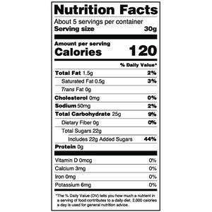 Yumearth-organic sour giggles-nutrition fact label