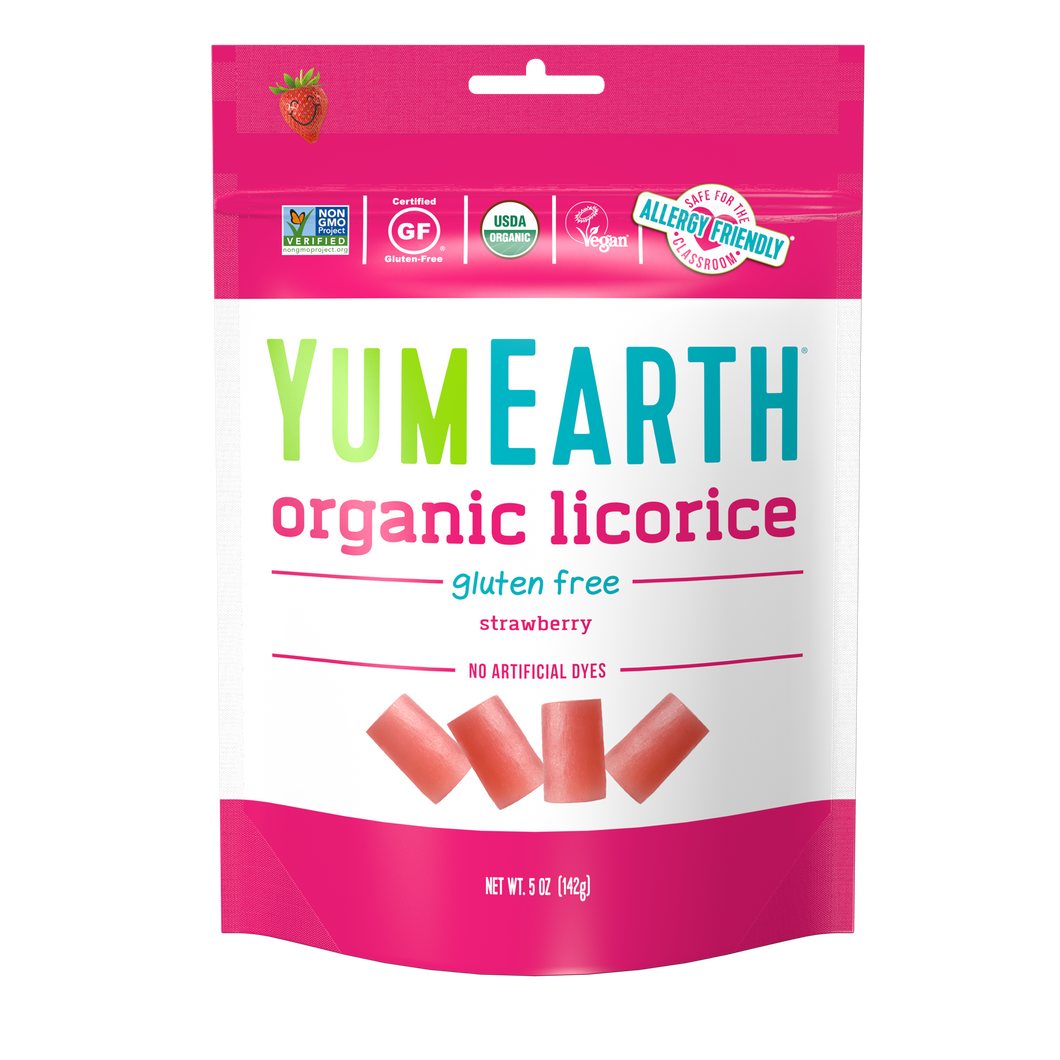 YumEarth-organic gluten free strawberry licorice-front of package