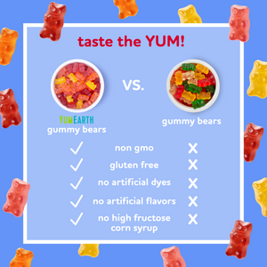 assorted flavor gummy bears
