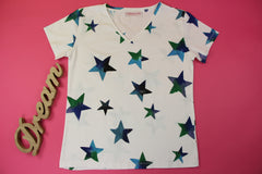 You Are the Sparkling Star Handpaint T-shirt|Camiseta pintada a mano Tu Eres La Estrella Brillante|閃爍的星星手繪T恤
