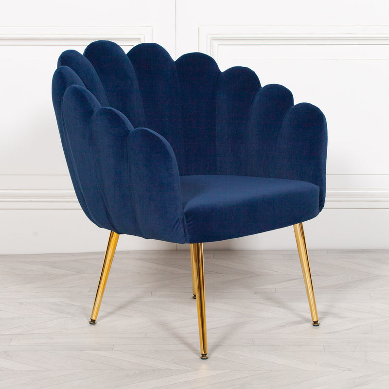 Scalloped Chair Blue