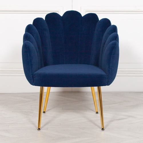 Scalloped Chair Blue Scallop Chair Blue Oyster Chair