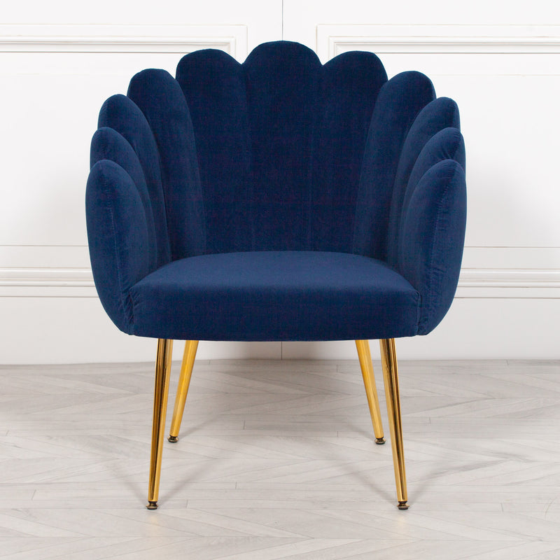 Scalloped Chair Blue Scallop Chair Blue Oyster Chair  furniture stores uk armchairs for sale armchairs uk armchair uk scallop chair velvet scalloped back chair