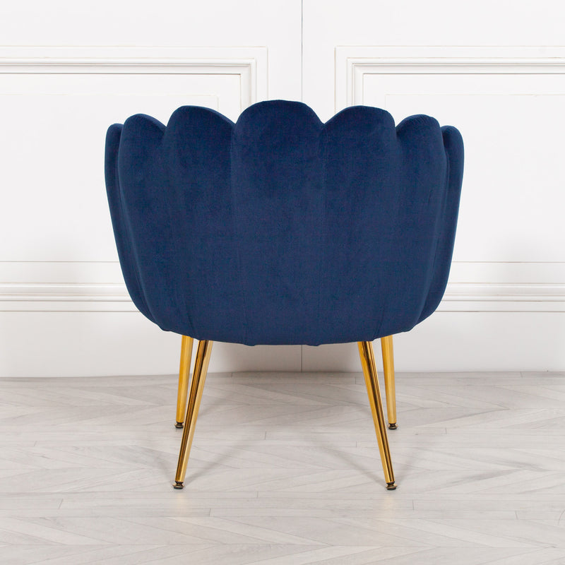 Velvet shell chair scalloped chair scallop chair