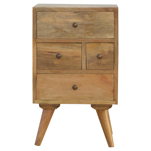 Solid wood bedside table with drawers
