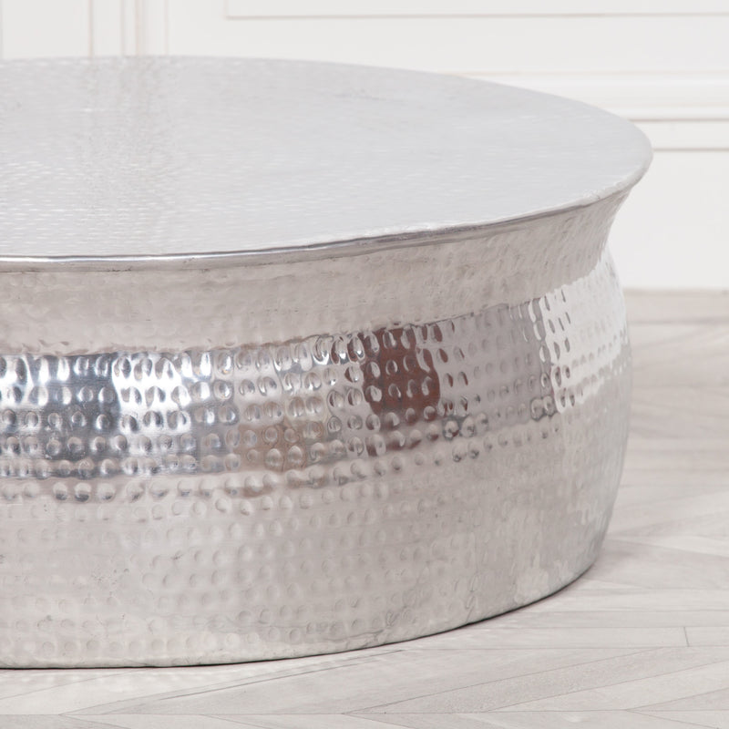 Modern furniture uk contemporary furniture uk design hammered aluminium coffee table uk