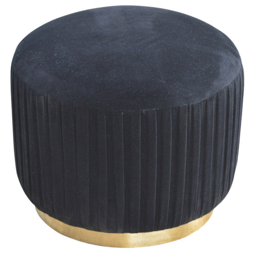 black velvet footstool gold base foot stool