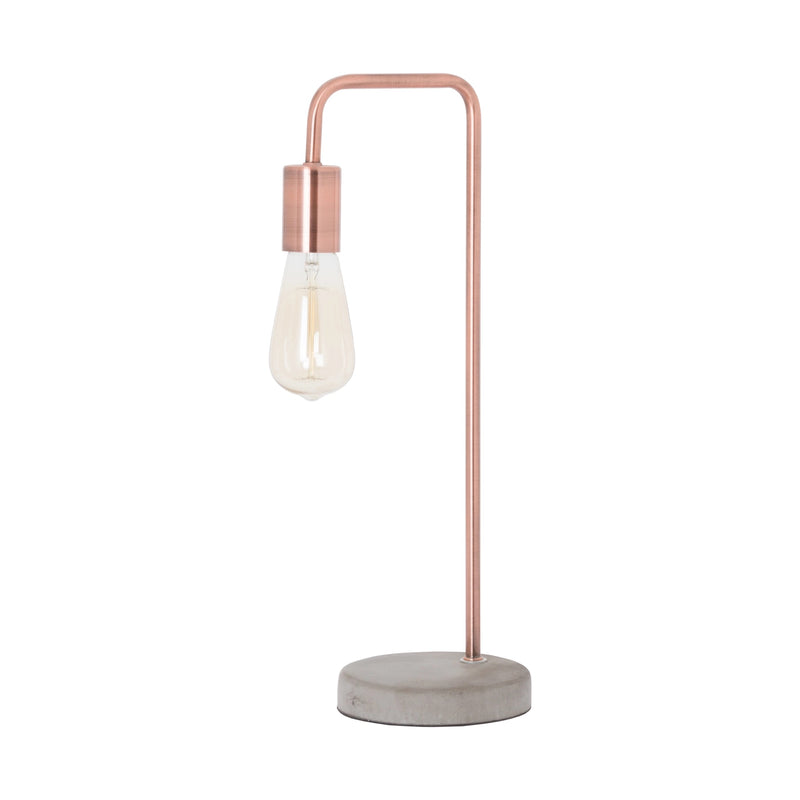 Industrial copper lamp stone base home decor home lighting rose gold lamp