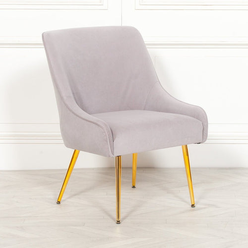 grey velvet dining chair gold legs lulu loves home audenza made.com home decor