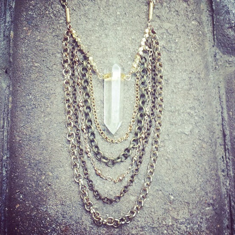 Waterfall Crystal necklace