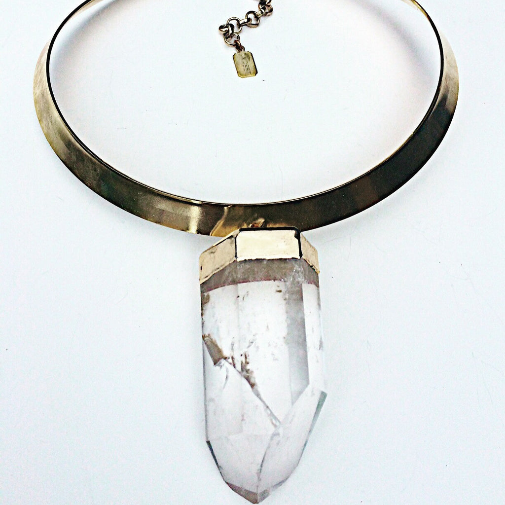 Mega Quartz Neck Ring/ Choker