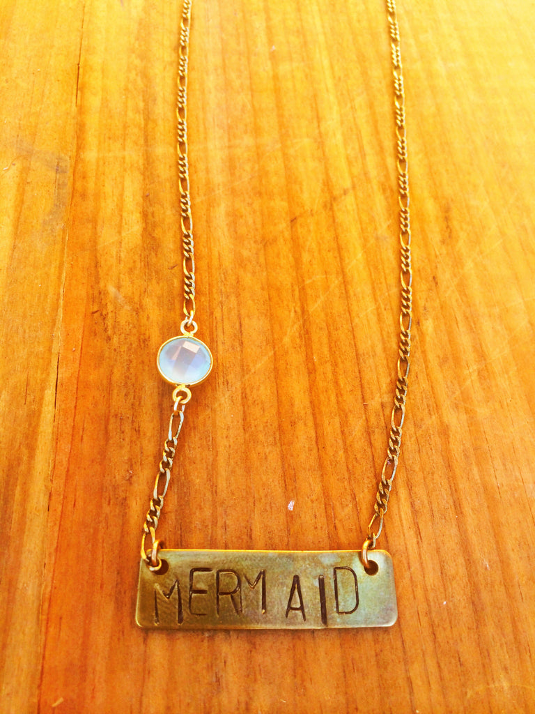 Stamp Necklace - Mermaid