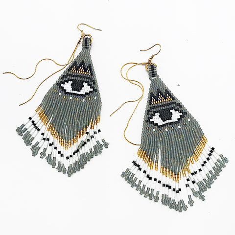 SALE - Evil Eye Beaded Earrings