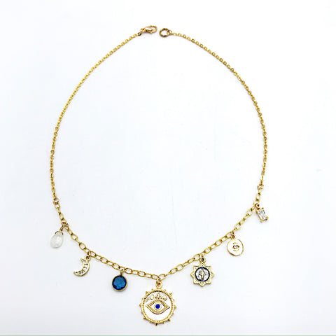 Lani Bleu trinket necklace