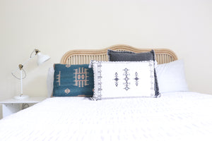 Folk Cushion | White
