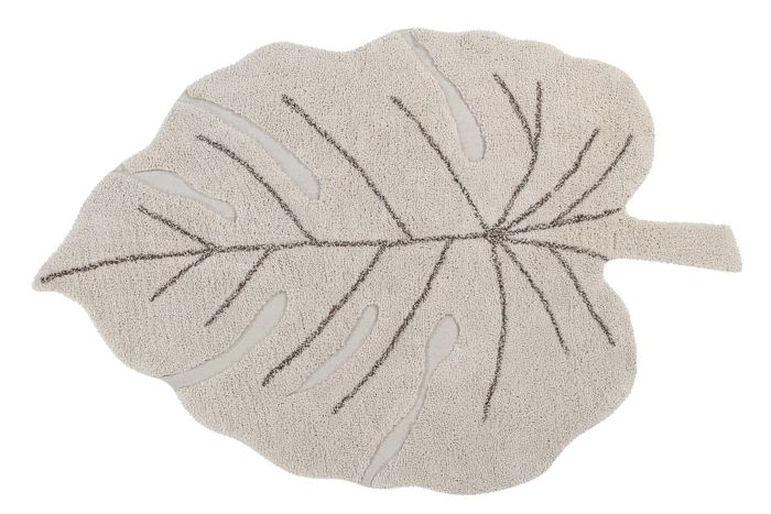 Lorena Canals Washable Rug Monstera Leaf - Natural