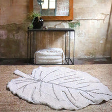 Load image into Gallery viewer, Lorena Canals Washable Rug Monstera Leaf - Natural
