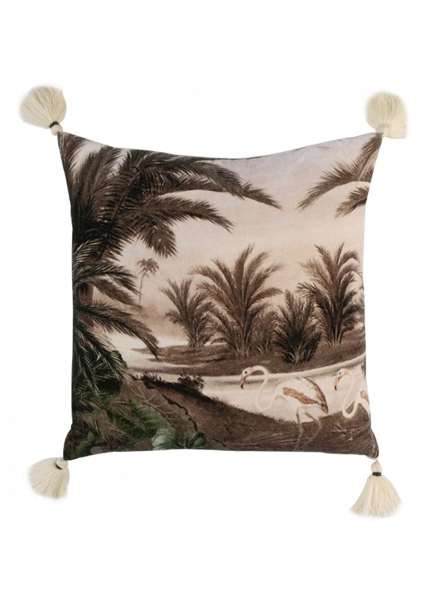 Swan Tassel Cushion