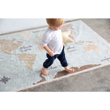 Load image into Gallery viewer, Lorena Canals Washable Vintage Map Rug