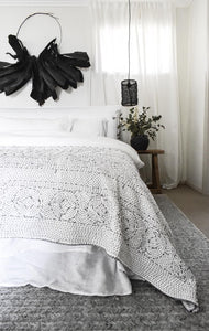 Surraya Kantha Bed Cover