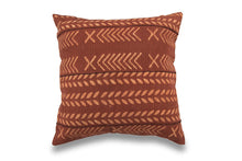 Load image into Gallery viewer, Red Rust Handblocked Cushion