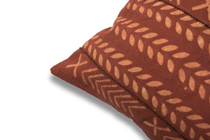Red Rust Handblocked Cushion