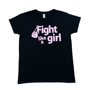 Fight Like A Girl - Black Tee