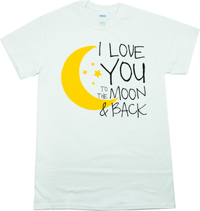 To The Moon & Back - White Tee