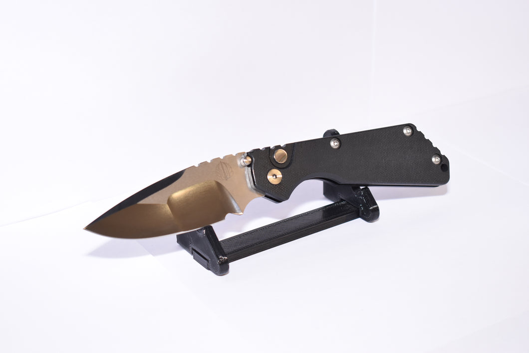 Pro-Tech SnG Black Micarta Mirror Finish
