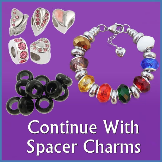 Continue with Spacer Charms: